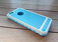 Чехол-накладка для iPhone 5/5s/SE blue-white