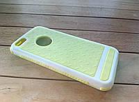 Чехол-накладка для iPhone 5/5s/SE yellow-white