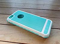 Чехол-накладка для iPhone 5/5s/SE green-white