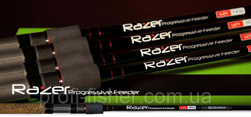 Фидерное удилище ZEMEX Razer Progressive Feeder 4,2м до 140гр - Южная Корея