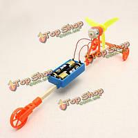 Ветер приведенный в действие автомобиль DIY творческих игрушки малые технологии производства