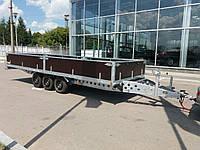 Прицеп автовоз для перевозки автомобиля (микроавтобуса) 6м х 2,5м плюс бортовой., фото 1
