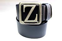 Темно-синий брендовый ремень 'Ermenegildo Zegna' 40 мм