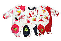 Бодики детские велюровые на махровой подкладке для мальчики и девочки. Temiz 882, фото 1