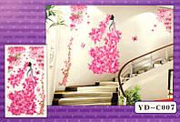 3D Декор - инсталляция ДЕВУШКА - ВЕСНА YD-C007