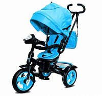Трехколесный велосипед Neo 4 Air надувные колеса, голубой