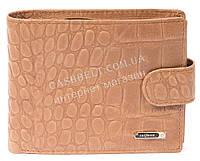 Мужской удобный классический кошелек с натуральной кожи под крокодила SALFEITE art. 2233T-F19 песочный
