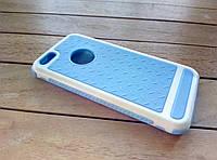 Чехол-накладка для iPhone 5/5s/SE purple-white