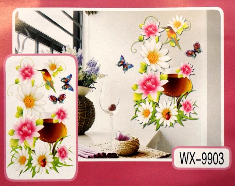 3D Декор - инсталляция ЦВЕТЫ WX-9903
