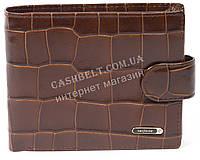 Мужской удобный классический кошелек с натуральной кожи под крокодила SALFEITE art. 2233T-F17 коричневый