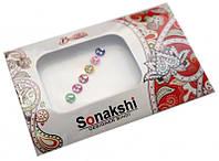 """Комплект наклеек на лицо или на ногти """"Sonakshi Bindi"""" №14"""