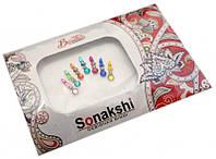 """Комплект наклеек на лицо или на ногти """"Sonakshi Bindi"""" №16"""