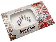 """Комплект наклеек на лицо или на ногти """"Sonakshi Bindi"""" №17"""