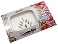 """Комплект наклеек на лицо или на ногти """"Sonakshi Bindi"""" №18"""