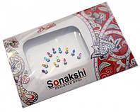 """Комплект наклеек на лицо или на ногти """"Sonakshi Bindi"""" №21"""