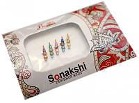 """Комплект наклеек на лицо или на ногти """"Sonakshi Bindi"""" №23"""
