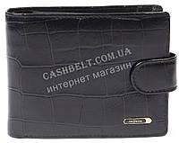 Мужской удобный классический кошелек с натуральной кожи под крокодила SALFEITE art. 2233T-F16 черный