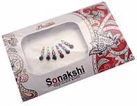 """Комплект наклеек на лицо или на ногти """"Sonakshi Bindi"""" №42"""