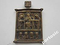 Ладанка-cкладень фрагмент Троица латунь 50:80 мм