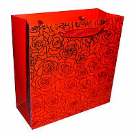 """Пакет подарочный """"Розы"""" Красный"""