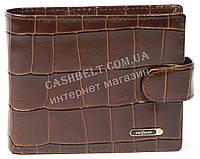 Мужской удобный кошелек с натуральной кожи и кардхолдера под крокодила SALFEITE art. 2257T-F17 коричневый