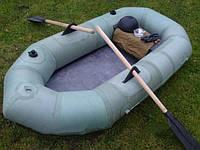 Лодка Лисичанка, 2хместная, резиновая, грузоподъемность 220кг, длина 240см, ширина 1м, 10кг