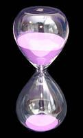 """Песочные часы """"Колба"""" Розовый песок"""
