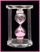 Песочные часы в стеклянном корпусе Розовый песок