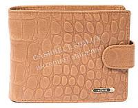 Мужской удобный кошелек с натуральной кожи и кардхолдера под крокодила SALFEITE art. 2257T-F19 песочный