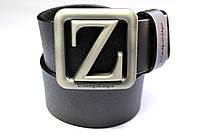 Черный брендовый ремень 'Ermenegildo Zegna' 40 мм
