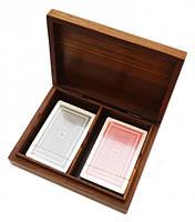 Коробочка + 2 колоды карт 16х12х4см. Арт.1001