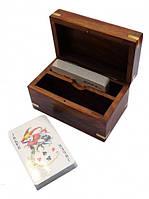 Коробочка + 2-х колоды карт 7,5х7,5х12,5см. Арт.1048