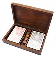 Коробочка для 2-х колод карт + 5 кубиков Арт.1045