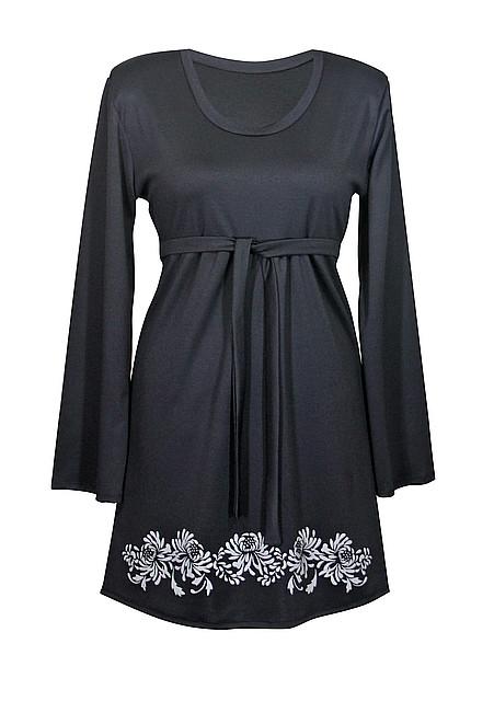 Черное красивое платье для полных женщин