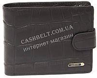 Мужской удобный кошелек с натуральной кожи и кардхолдера под крокодила SALFEITE art. 2257T-F18 черная
