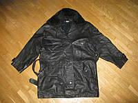 Куртка кожаная с воротником, XL, сост. очень хорош
