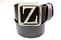 Брендовый коричневый ремень 'Ermenegildo Zegna' 40 мм