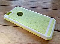 Чехол-накладка для iPhone 6/6s yellow-white