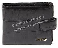 Чоловічий зручний гаманець з натуральної гладкої шкіри під крокодила SALFEITE art. 2173T-F16 чорний, фото 1