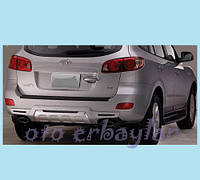 Hyundai Santa Fe 2 2006-2012 гг. Задняя накладка R008 (пластик)