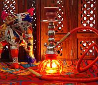 Кальян Китай со стеклянной колбой Красный