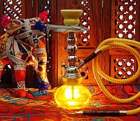Кальян Китай со стеклянной колбой Жёлтый