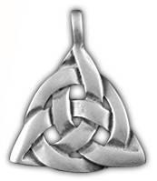 """71116 Амулет защитный тотем """"Узел Талиесина"""" материал - олово"""