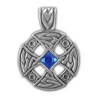 """71503 Амулет защитный нордический """"Крест в колесе"""" материал - олово"""