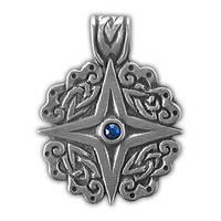 """71504 Амулет защитный нордический """"Земная звезда"""" материал - олово"""