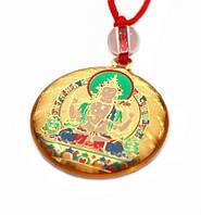 Амулет Буддийский в пластике на шнурке Авалокитешвара