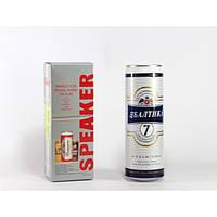 Портативная музыкальная колонка SPS Балтика, колонка в виде банки пива, mp3 колонка с fm приемником
