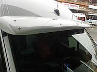 Volkswagen Crafter 2006+ и 2011+ гг. Дефлектор лобового стекла (под покраску, с крепежками)