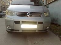 Volkswagen T5 Transporter 2003-2010 гг. Цельная накладка на бампер (под покраску)