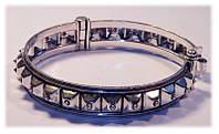 Браслет на руку кольцо разъёмное. Белый метал